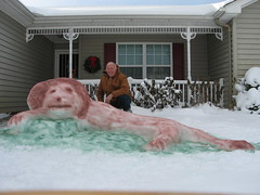 Leo the Lion by Michael Poynter in Portsmouth (wavy_news) Tags: winter snow weather snowman wavy blast reportit wavytv wavynews snowdec252010