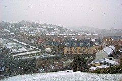 Beer in heavy snow (Alastair Cummins) Tags: houses snow beer village devon