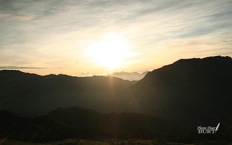合歡山莊前的日出