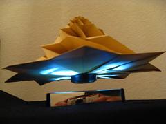 IMG_7761 - Chris Palmer Flower Tower Levitating (tend2it) Tags: geometric toy cool origami geek geometry levitation revolution magnetic chrispalmer levitron flowertower tesellations tesselllation