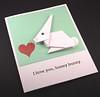 Origami Bunny Card