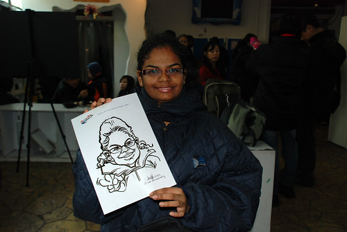Caricature live sketching for Snow City Winter Wonderland Activities- Day 4 - 1
