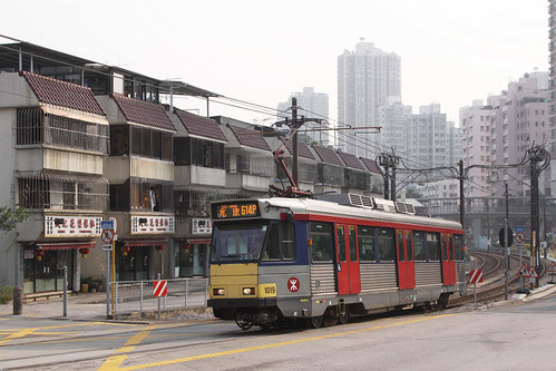 Phase 1 LRV 1019 passing 'village houses' at San Hui