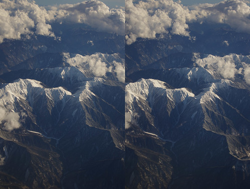 Mount Hijiri, stereo parallel view