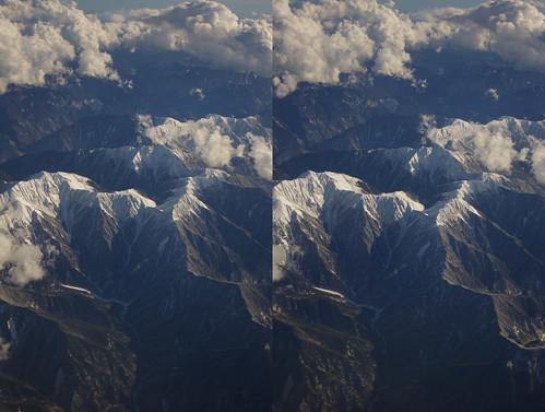 Mount Hijiri, stereo parallel view