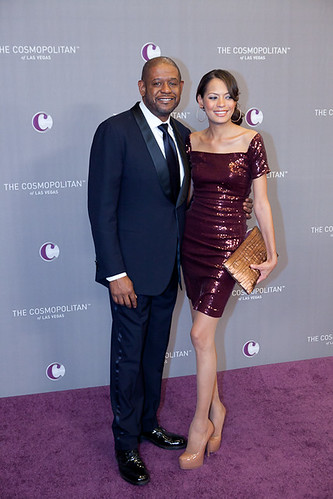 Forest Whitaker and Keisha Whitaker at The Cosmopolitan Grand Opening and New Year's Eve Celebration