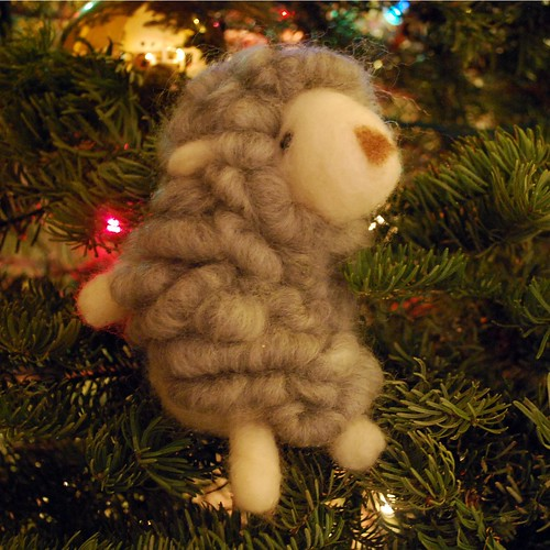 Felted sheep by Jessica