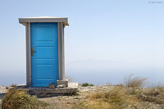 Blue Dimension (Ben Heine) Tags: light summer wallpaper mountain inspiration art nature colors landscape happy photography hope freedom seaside scenery energy colorful closed blauw open emotion image wind lumière top live infinity air magic horizon hill dream picture entrance atmosphere fresh bleu oxygen greece liberté enjoy future unknown alive enter minimalism conceptual breathe paysage discovery success far entry monstersinc bluedoor naxos colline imagery ecosystem magie newlife waterscape blueness luminosity postprocessing rêve theartistery toiletblock digitaltechnology creativecomposition benheine bluedimension samsungimaging nx10 benheinecom
