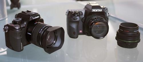Pentax K-5 15mm f4 & 70mm F2.4 lens - Panasonic GH2 Leica 45mm f2.8 macro
