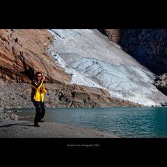 Tai chi chuan with Briksdal glacier in background (stella-mia) Tags: ice norway explore nd jostedalsbreen 70200mm blueice  taichichuan briksdalsbreen  explored briksdalglacier nd4filter jostedalsbreennationalpark canon5dmkii briksvalley annakrmcke