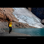 Tai chi chuan with Briksdal glacier in background