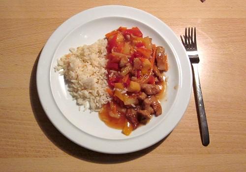 07 - Putenbrust süß-sauer - Gericht auf Teller