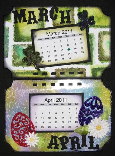 Ranger Technique Calendar - Distress Ink - April 002