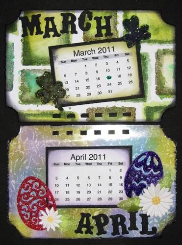Ranger Technique Calendar - Distress Ink - April 002