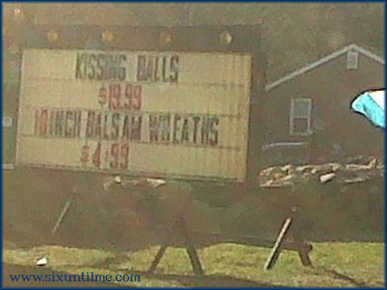 The great Kissing Balls of Rhode Island