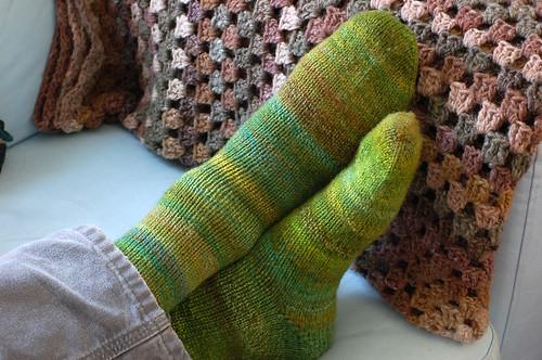 Green Vera Socks