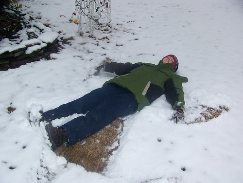 101226 Snow 05 - spencer, snow angel