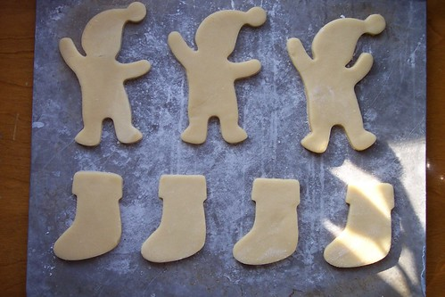 sugar cookies: ready for the oven
