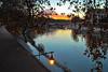 ..aspetta un attimo! (the_lighter) Tags: bridge autumn sunset rome roma water foglie clouds river nikon tramonto nuvole fiume ponte tevere leafs acqua autunno rami scorcio lampione d60