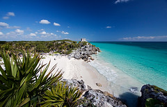 Tulum Beach, Mexico (DolliaSH) Tags: trip travel sea summer vacation sun white holiday seascape color tourism beach latinamerica colors mxico clouds strand canon mexico mar site sand topf50 ruins tour place pyramid maya playadelcarmen visit location tourist palm yucatn journey ruinas cielo latinoamerica tropical mexique destination traveling cozumel visiting rivieramaya topf150 pyramide 1022mm touring precolumbian sitio marcaribe caribe ruines messico quintanaroo caribbeansea canonefs1022mmf3545usm turquoisewaters 2000views arqueolgico meksiko culturamaya canoneos50d archologique mexik playadetulum prcolombien thewalledcity dollia dollias sheombar dolliash mexikomeksyk ttopf100