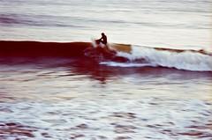 "#005938 - surfing the post-rain ""brown"" water, nameless surfer, santa cruz, december 2010."