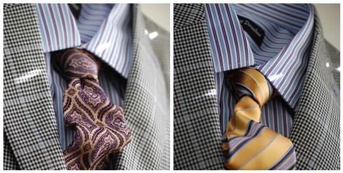 Blue Purple Striped Shirt Tie Mosaic