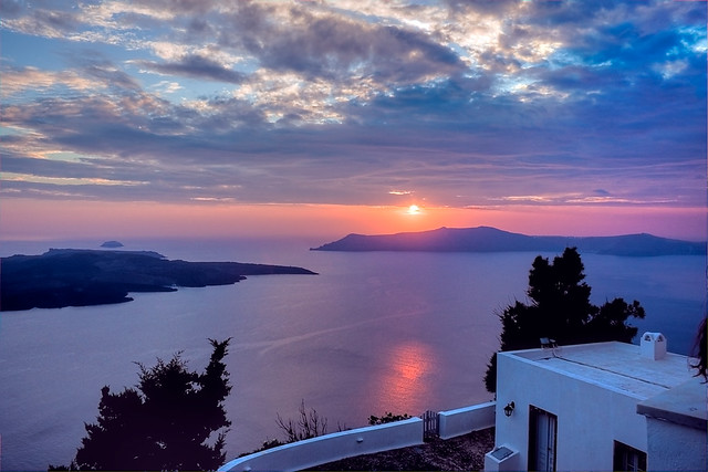 Greek Island Sunset - Santorini