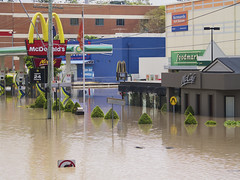 McDonald's Milton - Brisbane Floods (Erik K Veland) Tags: city water flood january australia brisbane qld floods 2011 olympuszuikodigital40150mmf3545 qldfloods bnefloods
