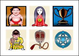 free Sumo slot game symbols