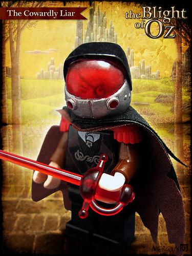 Custom minifig The Blight of Oz - The Cowardly Liar