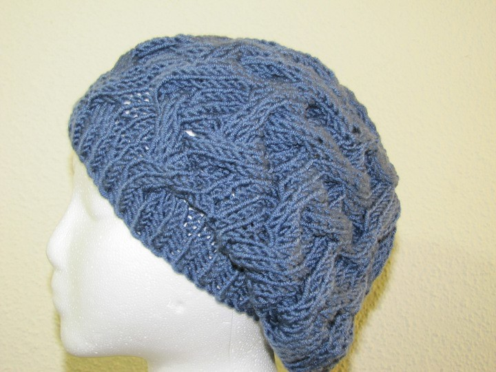 bb5973c3338c8 Star Crossed Slouchy Beret - Clipper 4 (Practical Artist) Tags  blue hat  knitting