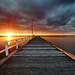 Seaford pier sunset