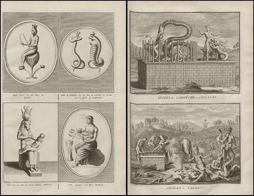 Isis, Osiris and Horus AND Idoles de Campeche, Iucatan et Tabasco