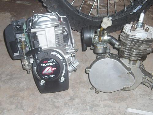 Honda GX-35 & Mesin sepeda Hub : Rendra Lambrettino - facebook