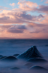 summit (Spencer Bowman) Tags: longexposure sunset sea sky cloud seascape blur detail beach water rock scotland soft dusk shoreline surreal atmosphere peak summit za gs subtle troon ghosting etherial greatsky nd110 cz1680 coastuk sonya450 variosonnartdt35451680
