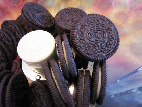 Chopped oreos make the dirt