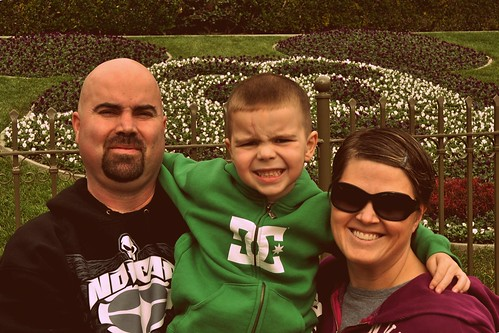 The Family at Disneyland in January of 2011