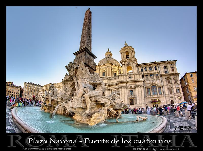 Roma - Plaza Navona - Fuente de los cuatro ríos