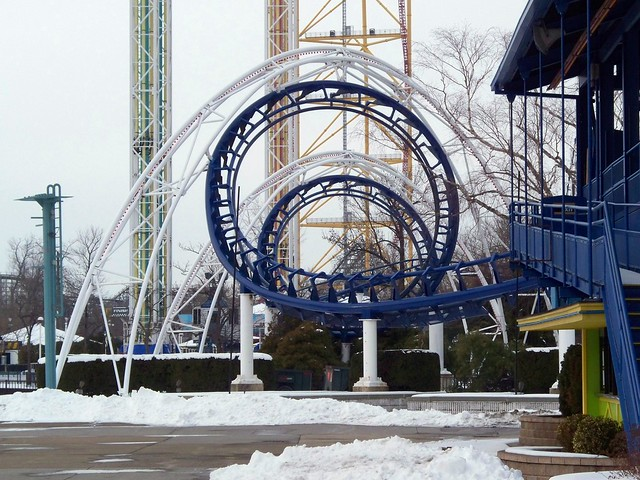 Cedar Point - Off-Season Corkscrew