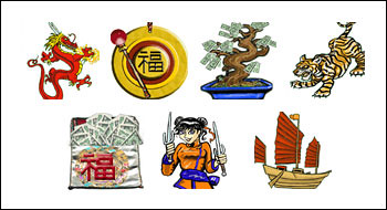 free Orient Express slot game symbols