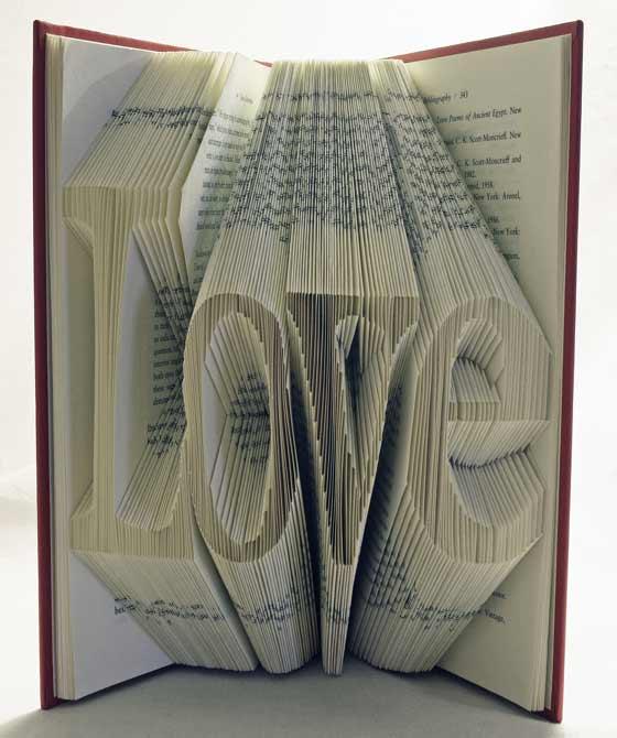 libros convertidos en arte