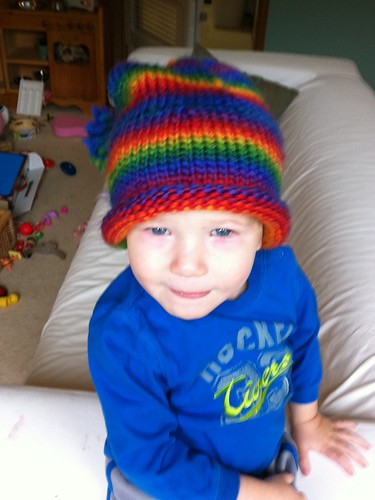 Jacob rocking his new toque