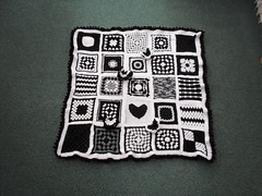Thank you to everyone that has contributed Squares for this Black and White Blanket. 'Please add note if you see your Squares!'