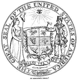 Great Seal of the US Du Simietere version