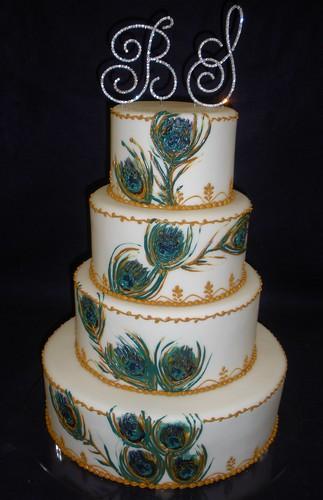 Peacock Wedding Cake by Angel Contreras