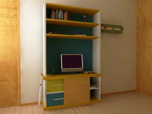 Muebles Infantiles. Librero. Mueble para television.