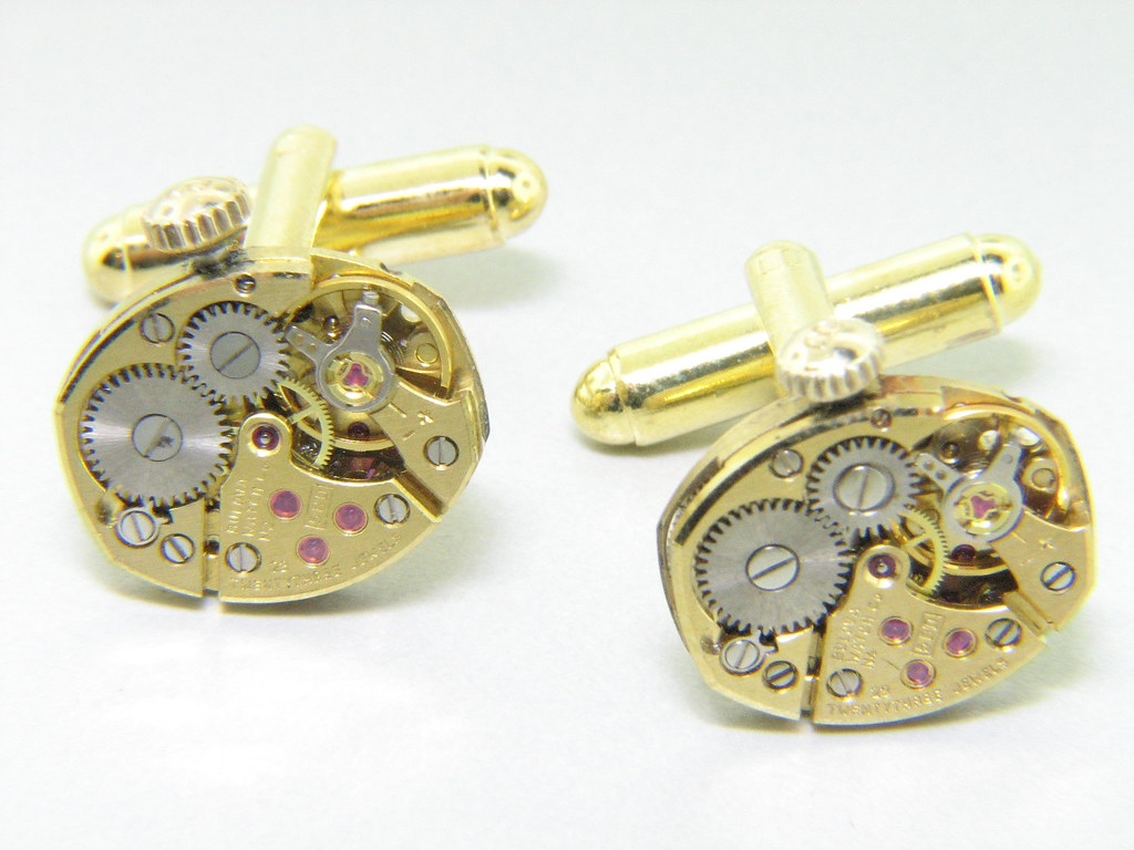 Bulova Vintage watch movement cuff links