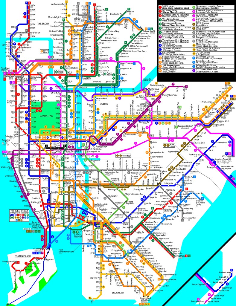 My new fantasy 2011 subway map   New York City Subway   NYC