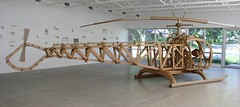 """Shannon Goff, Helicopter, 2005, Cardboard, 165"""" x 378"""" x 81.5"""" (TelegraphArt) Tags: pink sculpture ceramic phone bell drawing piano helicopter shannon cardboard porcelain goff"""
