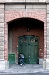 The getaway (carlos_ar2000) Tags: street door man color colour argentina calle movement puerta buenosaires gallery arch getaway galeria running movimiento retiro arco hombre corriendo fuga huida